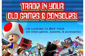 I Want to $BUY your old games NINTENDO, SEGA, PLAYSTION, GAMEBOY