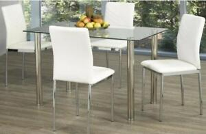 WHITE DINING TABLE SET (T2236)
