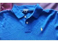 Ralph Lauren boys blue polo shirt