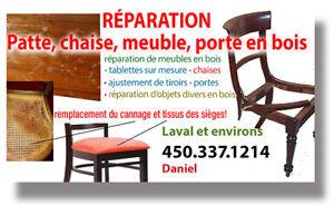 Chaises Laval Rparation Cannage Tables Meubles En Bois
