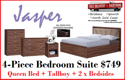 Brand New QUEEN Size Bedroom Suite with Drawers FREE DELIVERY