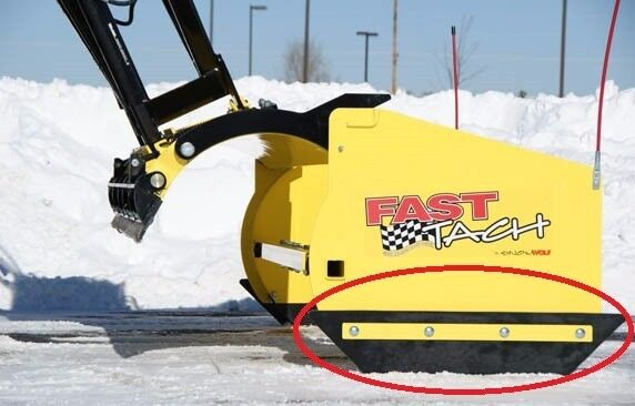 SnowWolf FastTach Urethane Plow Shoes