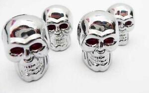 Skull-scull-valve-caps-dust-chrome-car-bike-motorbike-dustie-dusty-van-chopper