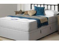 Single side lift ottoman divan bed.
