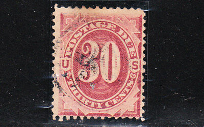 sc#  J27, 30c, bright-claret. Postage Due. Used