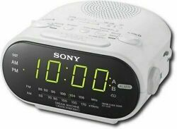Sony ICF-C318 Automatic Time Set Clock Radio with Dual Alarm (White) NEW