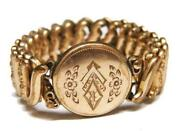 Gold Engraved Bracelet