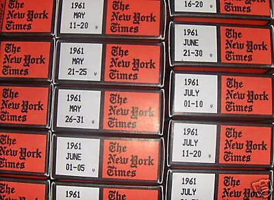 New York Times on Microfilm  (1912-2004)
