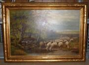Antique Sheep Painting