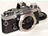 Olympus OM-1N Stainless Steal Camera + Extras