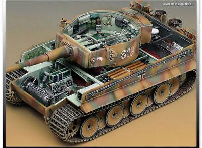 Academy no.13239 1/35 GERMAN TIGER-I EARLY VERSION Plastic Model Kit Tank