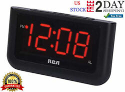 Alarm Clock Digital Loud LED Display Electric Battery Backup Snooze LCD Corded,