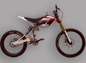 Motoped motorized mountain bike