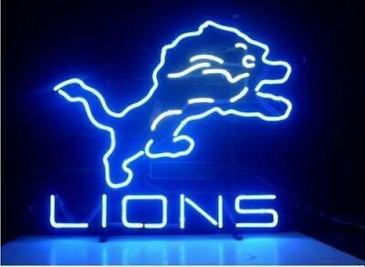 New Detroit Lions Artwork Neon Light Sign 17