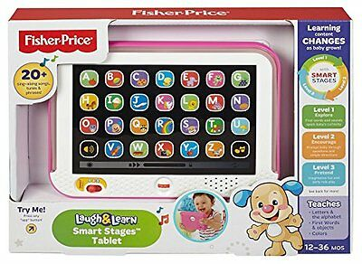 Купить Fisher-Price CHC61 - Baby Tablet Educational Toys Girls Toy For 1 2 Year Olds Toddler Learning Pink