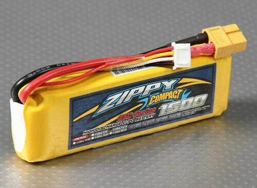 New Zippy Compact 1500mAh 3S 11.1V 25C 35C Lipo Battery Pack