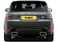 R4 WGE (RANGE ROVER FORD RANGER) R4WGE private cherished car number plate
