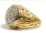 Mens Heavy Gold Ring
