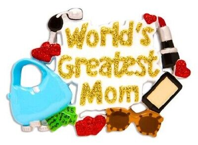 World Greatest Mom  Personalized  Ornament ()