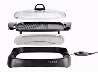 Kenwood electric grill with glass lid, family size. Collect from Colchester
