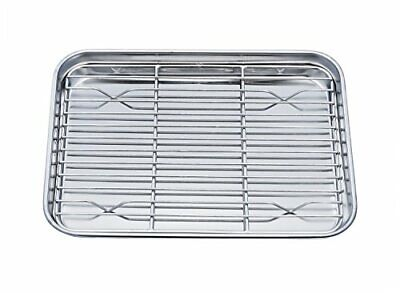 Toaster Oven Pan Tray-Cooling Rack Stainless Steel Toaster Ovenware broiler Pan