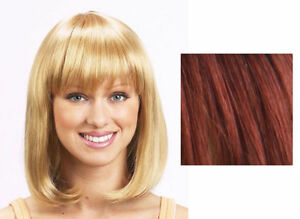 Short brown wig (CG-375 by New Look in 130 Red Auburn)