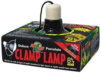 ZOO MED DELUXE PORCELAIN CLAMP LAMP 8.5 - Zoo Med Porcelain Clamp Lamp