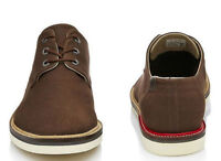 New $179 LACOSTE SHERBROOKE 13 BROWN DERBY SHOES SIZE 9US