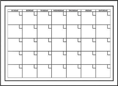 Brewster Wall Pops Wpe94575 Peel Stick White Board W Marker Monthly Calendar