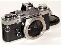 Olympus OM-1N Stainless Steal Camera + Extras