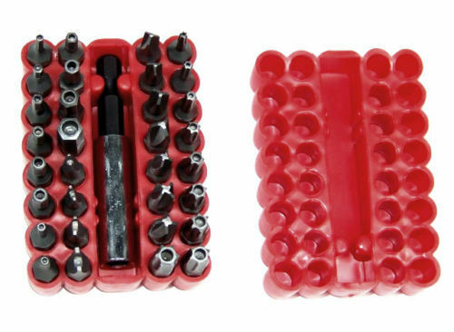 33 pc SECURITY BIT SET TORX TAMPERED PROOF  DRILL DRIVER TOOL SCREWDRIVERS BITS Hand Tools