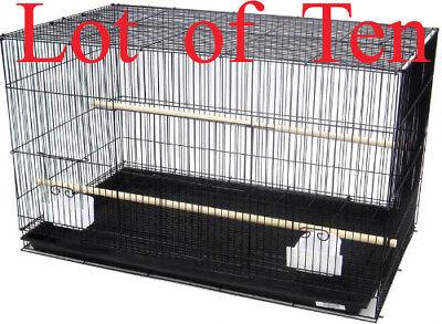 "NEW Lot of Ten Breeding Aviary LoveBird Breeder Bird Cages 20x14x14""H BLK"