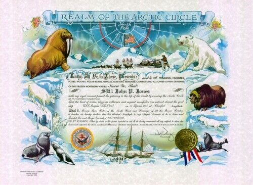 U.S.N.: Blue Nose Certificate: 15.5 x 21, full color certificate (Personalized)