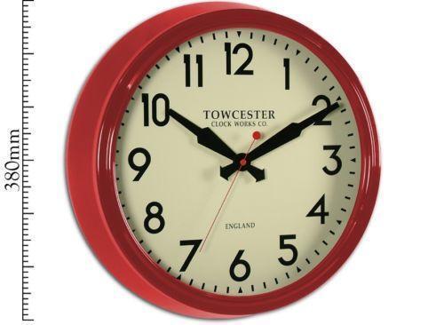 Large Metal Wall Clock Ebay