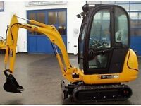 mini digger hire , micro digger , breaker , dumper , prices from £50 per day Bristol