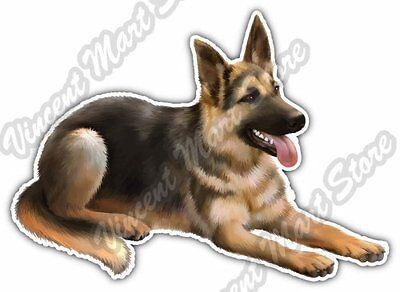 "German Shepherd Dog Breed Pet K9 Car Bumper Window Vinyl Sticker Decal 5""X4"""
