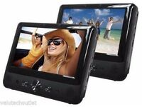 "Bush DVD9791"" Dual 2 Screen Car DVD USB Player Car Headrest Multi-Region C75"
