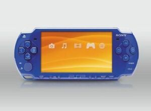 PSP 2001 Blue Soft Mod 2gb memory