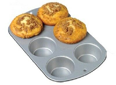 Wilton 2 Pack, Recipe Right, 6 Cup, Jumbo Muffin Pan 6-cup Jumbo Muffin Pan