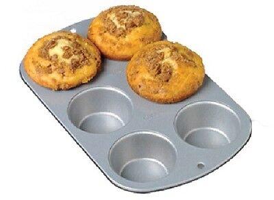 Wilton 2 Pack, Recipe Right, 6 Cup, Jumbo Muffin Pan Jumbo Muffin Pan