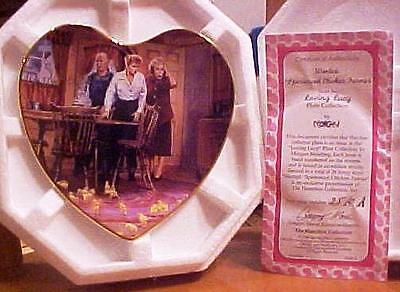 Lucille Ball I LOVE LUCY CHICKEN FARMER Experience Hamilton Heart Plate-NEW COA