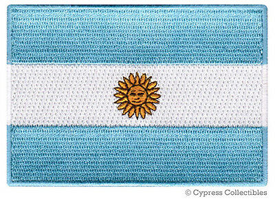 ARGENTINA FLAG embroidered iron-on PATCH BUENOS AIRES NATIONAL EMBLEM applique