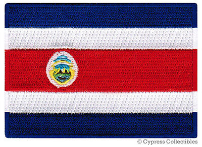 COSTA RICA FLAG embroidered iron-on PATCH CENTRAL AMERICAN EMBLEM SOUVENIR