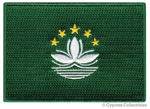 MACAU FLAG embroidered iron-on PATCH CHINESE EMBLEM CHINA PROVINCE MACAO