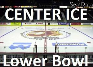 LOWER BOWL Calgary Flames Tickets (PLAYERS BENCH)