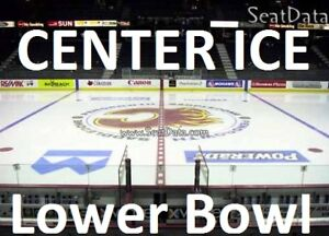 LOWER BOWL Flames vs Hurricanes Tickets (CENTER ICE ROW2) Jan22