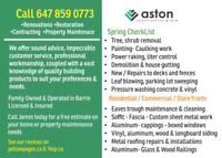 THIS SPRING - Let Us Take Care Of Your Investment