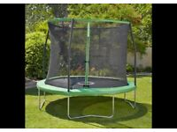 Ten Foot Trampoline with Enclosed Safety Net in very good condition Ready for Summer