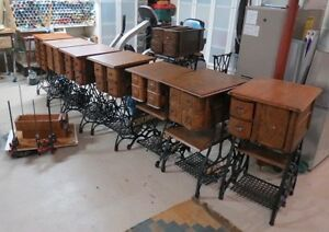 Repurpose Treadle Sewing Tables into Tables