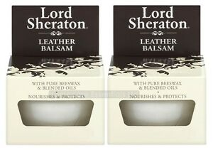 Pack of 2 Lord Sheraton Leather Balsam 75ml Nourishes and Protects with Beeswax